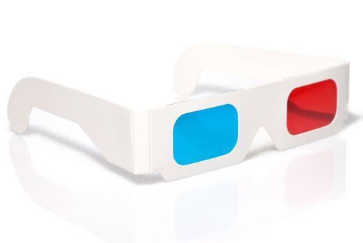 stereo glasses on white