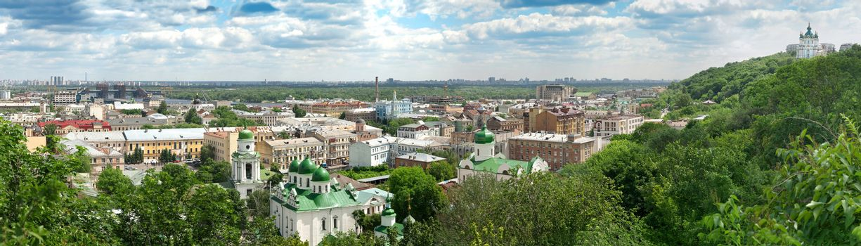 Panorama of the summer Kyiv
