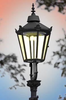 Cast iron street lamp