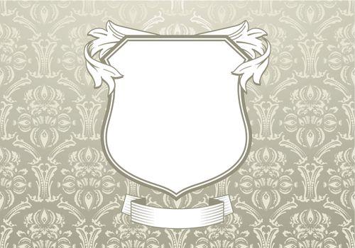 Baroque ornamentation with shield