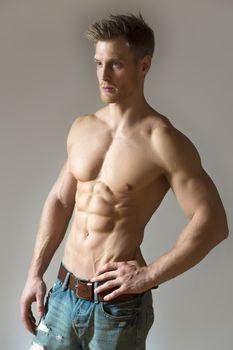 Blond athlete