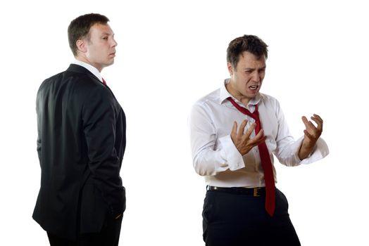 Different business men feelings
