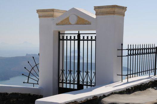Gate on Santorini