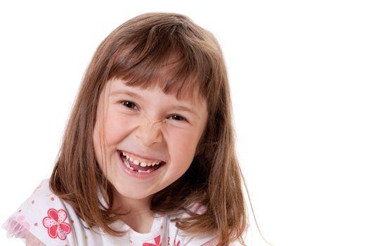Cute little girl looking happy