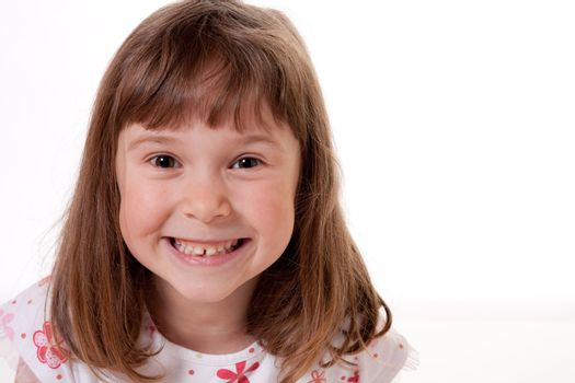 Little girl with a happy expression