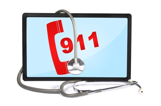 touchpad with 911 symbol