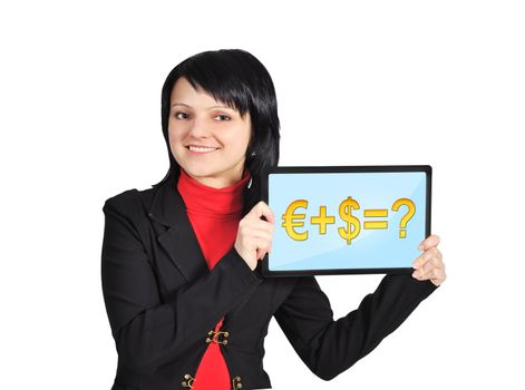 touchpad with business formula