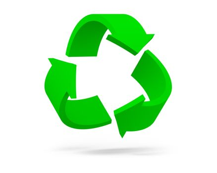 Recycling Symbol Isolated on the White Background