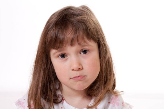 Little girl with a sad expression