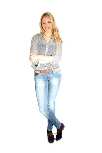 Attractive young woman in casual clothing Attractive young woman in casual clothing
