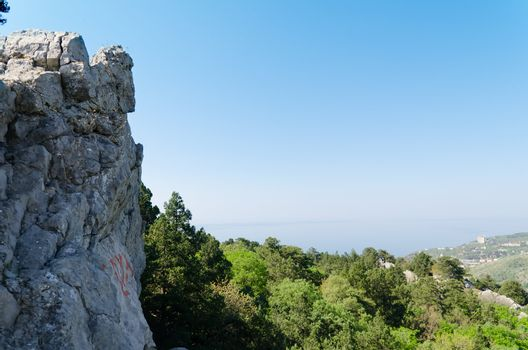 Rock mountain in Crimea, Ukraine