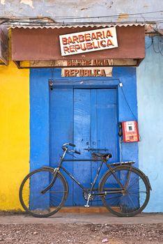 shop on street in goa india