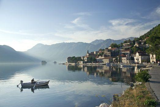 perast village in montenegro