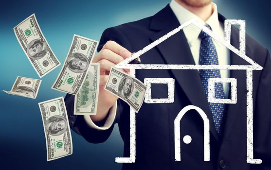Buying or Selling a House Concept