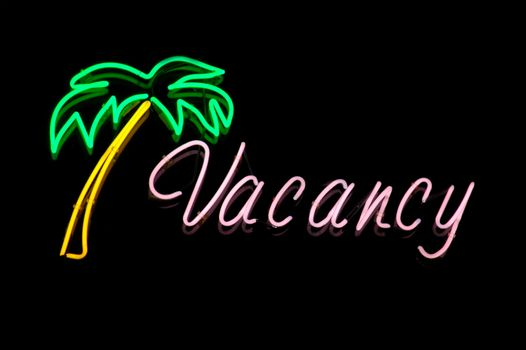 Neon Motel Vacancy Sign