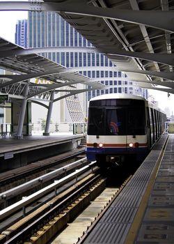 Sky train at platform