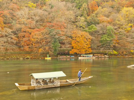 Boating in Arashiyama