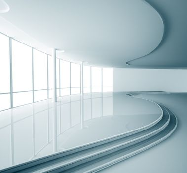 Abstract interior 3d render