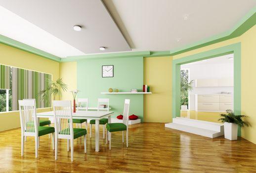 Dining room 3d render