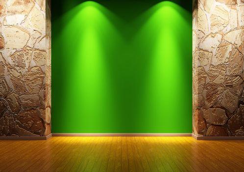 Empty room 3d render