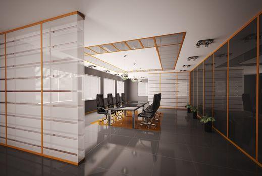 Boardroom interior 3d render