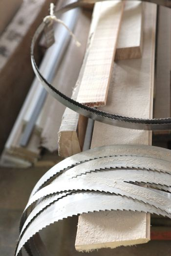 Collection of band-saw blades
