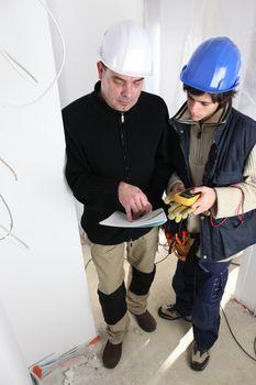 Electrician training apprentice