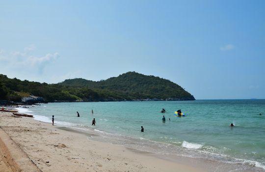 Tam-pang beach at Si-chang Island Thailand