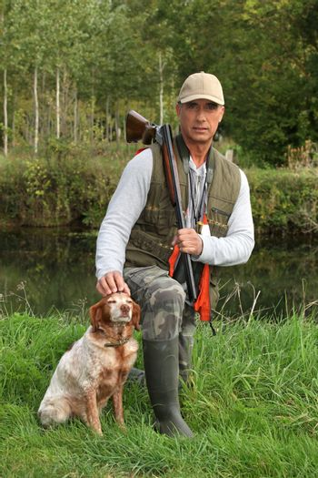 Hunter with his dog