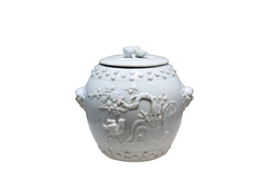 Chinese antique - Covered jar of Dehua ware