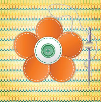 Colorful scrapbook with flower.