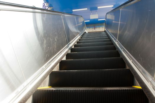 Escalator in the subway station