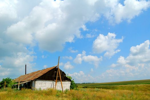 Old Lonely House in the Field