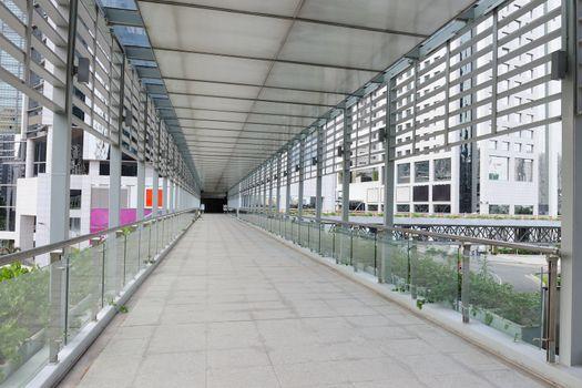 Passenger footbridge in Guangzhou city of China