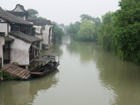 Ancient building near the river in Wuzhen town, Zhejiang province, China