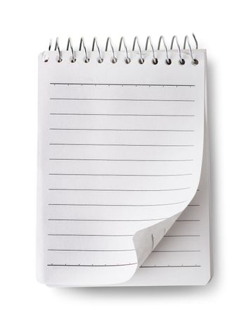 Blank notepad isolated