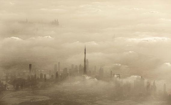 Sand storm in Dubai