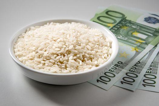 rice with three hundred Euro