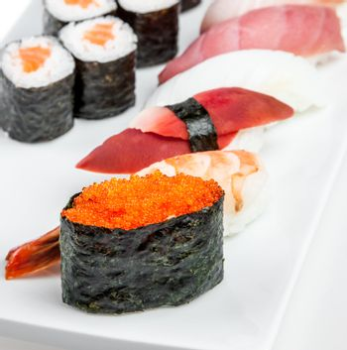 Sushi and Sushi Roll sea food