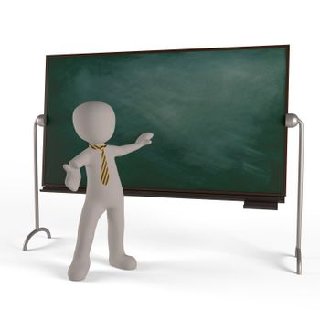 The education of a board showing the skill of teachers and students
