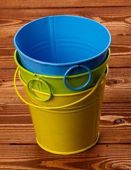 Colour Tin Buckets
