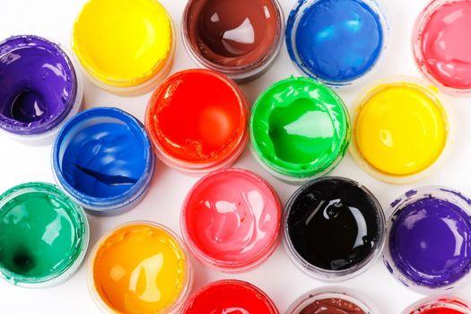 set of the watercolor gouache paints