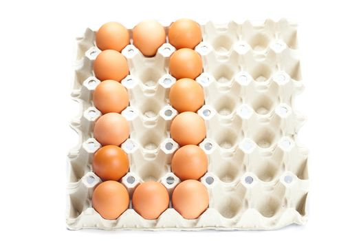 eggs as the number zero  isolated on white