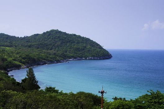 Ko Si Chang island in Thailand. Travel by sea