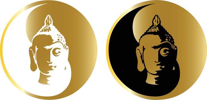 the vector gold buddha