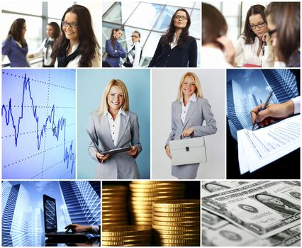 Business conceptual collage