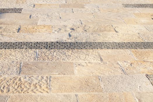 background of the stone pavement