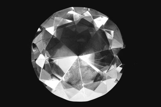 big diamond isolated on the black background