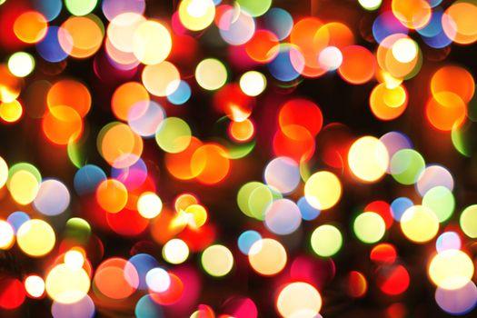 christmas color lights as nice christmas background