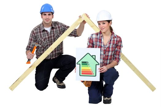 Energy saving in construction industry